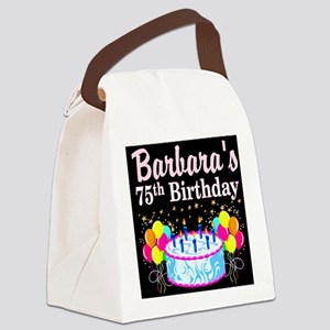 75TH PARTY GIRL Canvas Lunch Bag