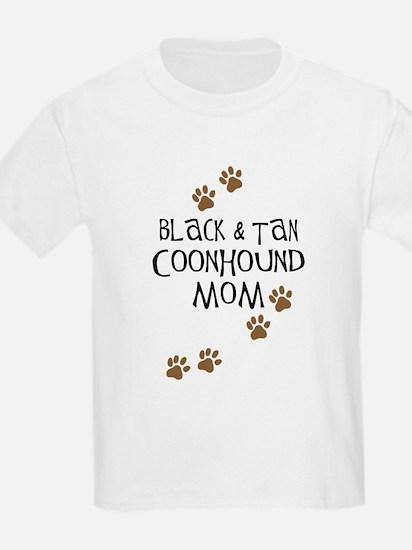 Black & Tan Coonhound Mom T-Shirt