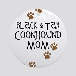 Black & Tan Coonhound Mom Ornament (Round)