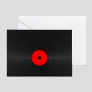 Vintage Vinyl Record Greeting Card