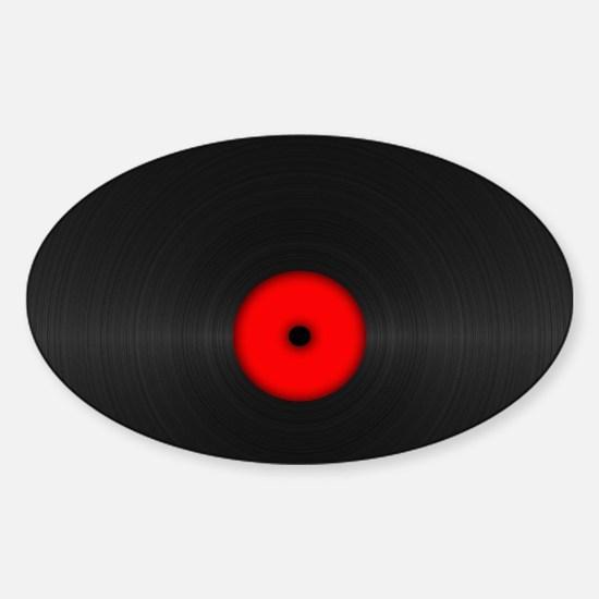 Vintage Vinyl Record Sticker (Oval)