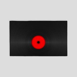 Vintage Vinyl Record Area Rug