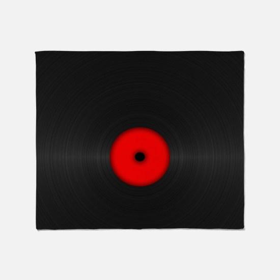 Vintage Vinyl Record Throw Blanket