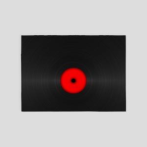 Vintage Vinyl Record 5'x7'Area Rug