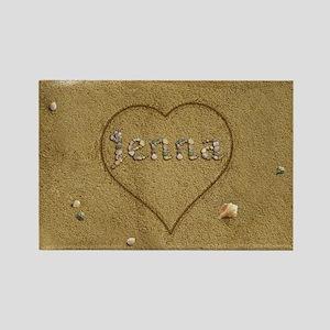 Jenna Beach Love Rectangle Magnet