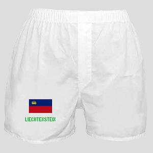 Liechtenstein Flag Stencil Green Desi Boxer Shorts