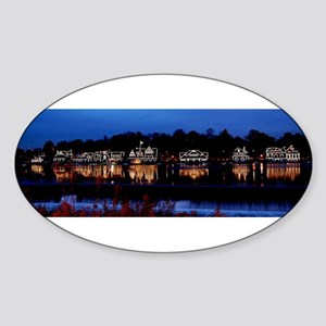 Boathouse Row at night Sticker
