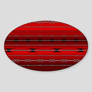 Red Steel Sticker (Oval)