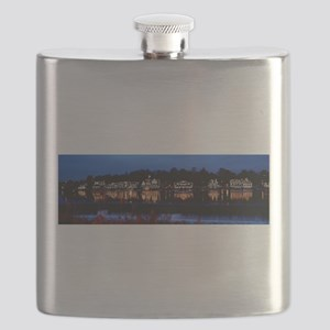 Boathouse Row at night Flask