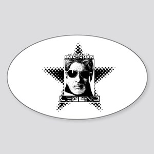 Bollywood LEGEND. Oval Sticker