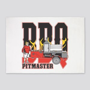 BBQ Pit master 5'x7'Area Rug