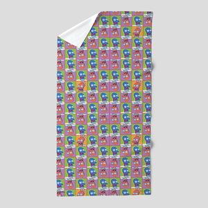Futurama Zoidberg Pattern Beach Towel