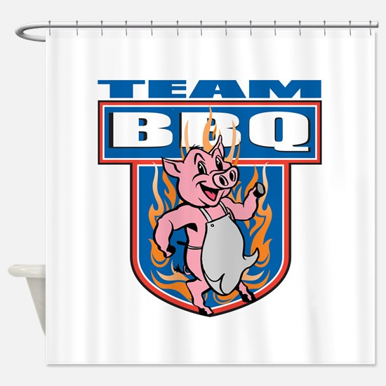 Team Pork BBQ Shower Curtain