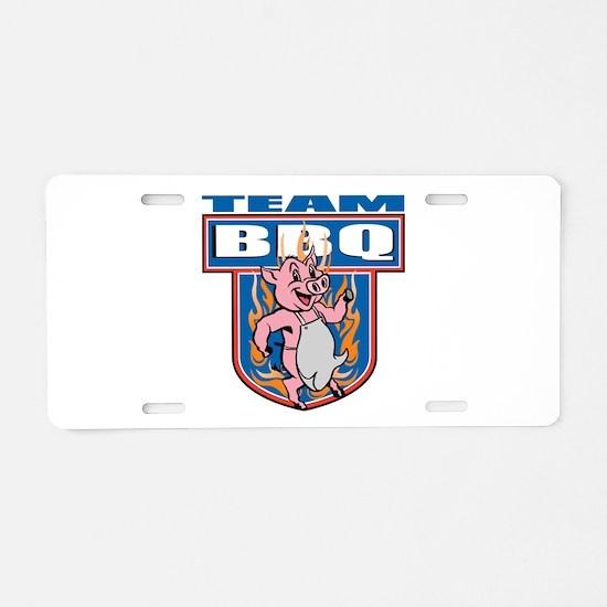 Team Pork BBQ Aluminum License Plate