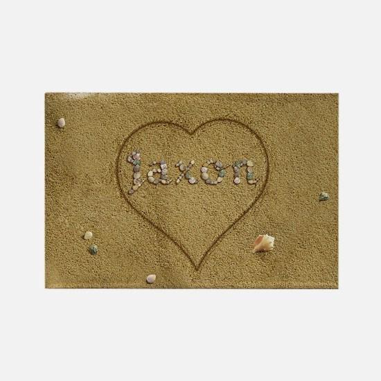 Jaxon Beach Love Rectangle Magnet