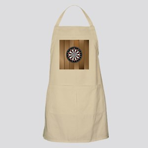 Darts Board On Wooden Background Apron