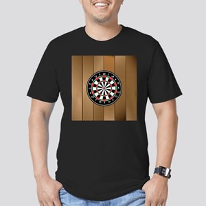 Darts Board On Wooden Background T-Shirt