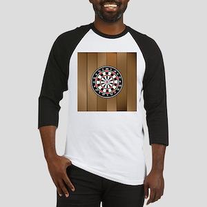 Darts Board On Wooden Background Baseball Jersey