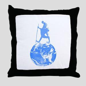 Gandhi on Gaia Throw Pillow