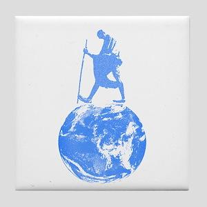 Gandhi on Gaia Tile Coaster
