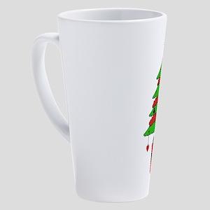 Card Game Christmas Tree 17 oz Latte Mug
