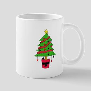 Card Game Christmas Tree Mugs