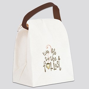 LIVE LIFE TO THE FULLEST Canvas Lunch Bag