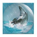 Bubble Dolphin Tile Coaster