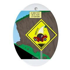 better falling rock Ornament (Oval)