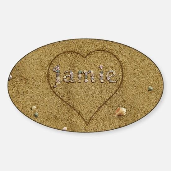 Jamie Beach Love Sticker (Oval)