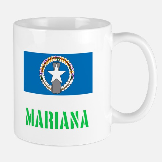 Mariana Flag Stencil Green Design Mugs