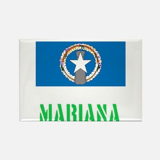 Mariana Flag Stencil Green Design Magnets