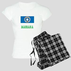 Mariana Flag Stencil Green Design Pajamas