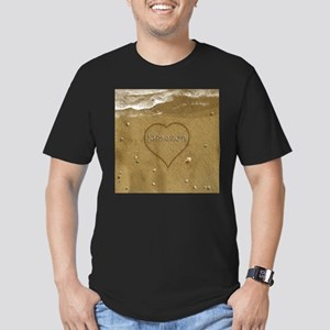Jameson Beach Love Men's Fitted T-Shirt (dark)