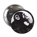 "Thoughtful Monkey 2 - Black 2.25"" Button (10"