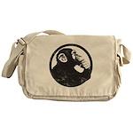 Thoughtful Monkey 2 - Black Messenger Bag