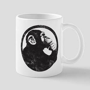 Thoughtful Monkey 2 - Black Mugs