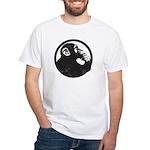 Thoughtful Monkey 2 - Black T-Shirt