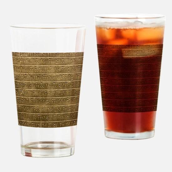 Hieroglyphics. Drinking Glass