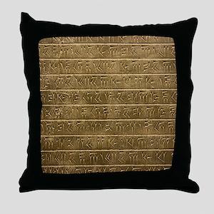 Hieroglyphics. Throw Pillow