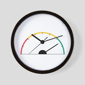Speed Gauge Wall Clock