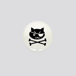 PIRATE CAT (BLK) Mini Button