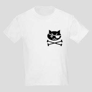 PIRATE CAT (BLK) Kids Light T-Shirt