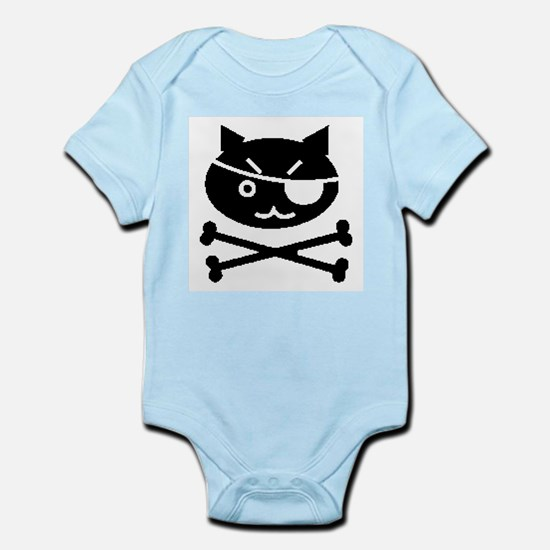 PIRATE CAT (BLK) Infant Bodysuit