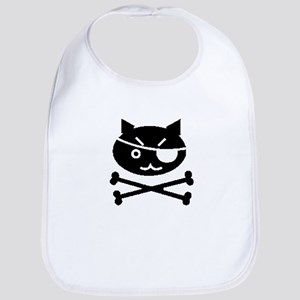 PIRATE CAT (BLK) Bib