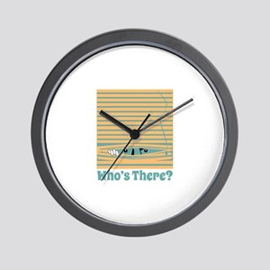 Whos There? Wall Clock