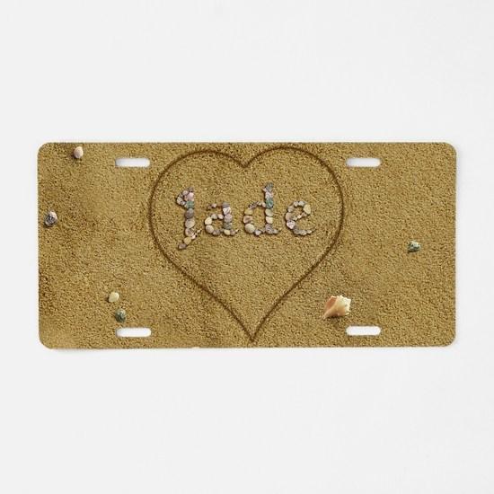 Jade Beach Love Aluminum License Plate