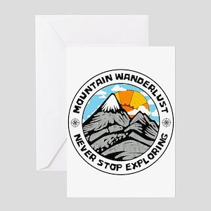 Mountain Wanderlust Greeting Cards