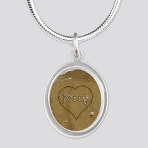 Jerry Beach Love Silver Oval Necklace