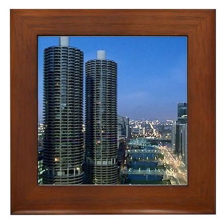 Chicago River Framed Tile